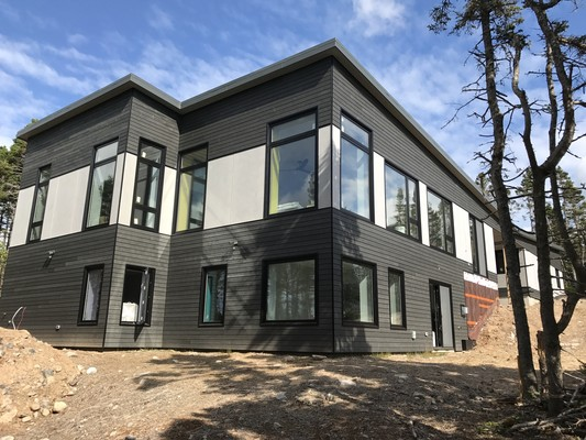 completed siding passive house certified builder sawlor built homes halifax nova scotia