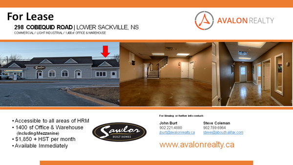 Office Space For Lease - Halifax Nova Scotia Home Builder